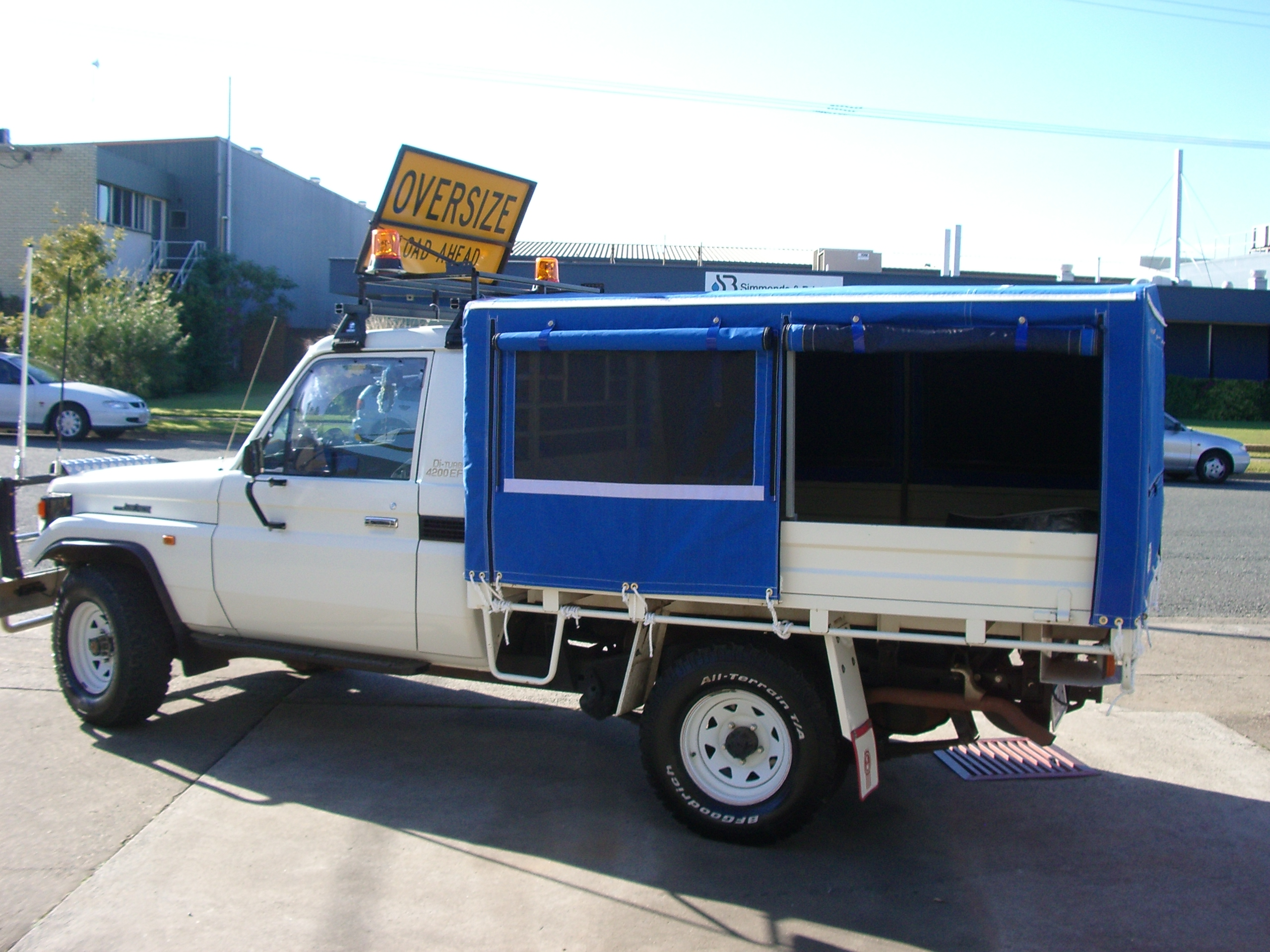Plain canvas ute canopy with windows & Trailer and Ute Canopies | Rocklea Canvas